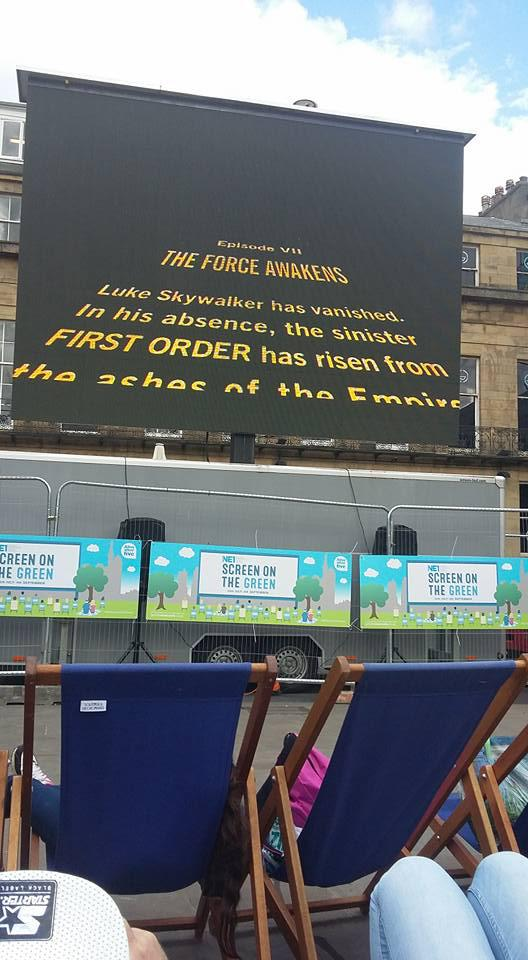 Screen on the Green Star Wars